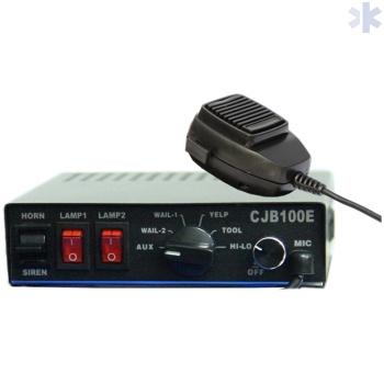 Controlador de sirene com microfone