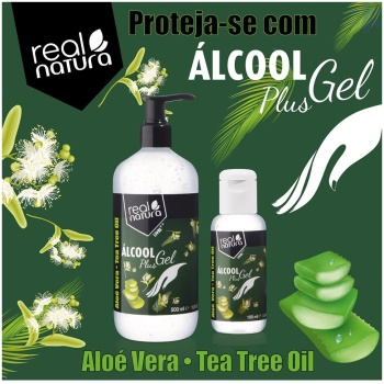 Álcool Gel Tea Tree Oil 100ml da Real Natura
