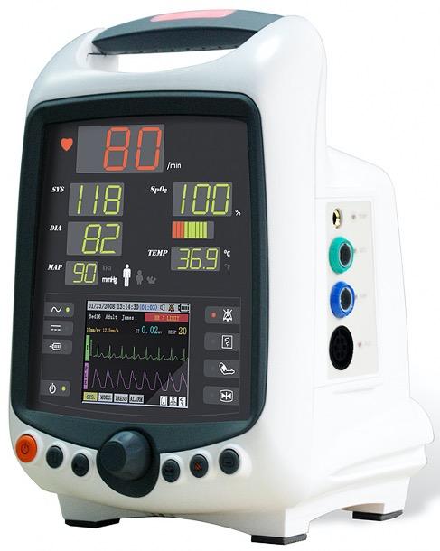 Monitor multiparamétrico (NIBP, SpO2, Temp, ECG) IRIS 400